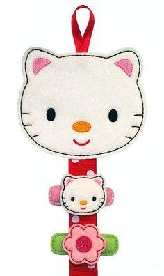Felt Hair Clip Hanger  White Hello Kitty by deborahbabarskas, $8.00