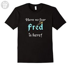 Mens Have No Fear, Fred Is Here: Funny First Name Gifts T-Shirt Large Black - Funny shirts (*Amazon Partner-Link)