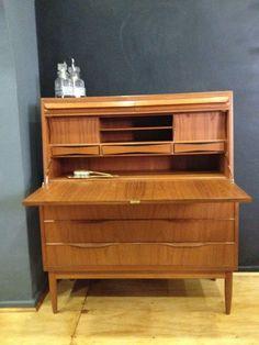 secreter, decada muebles vintage, mid century modern, danish furniture, www,decada.com.mx