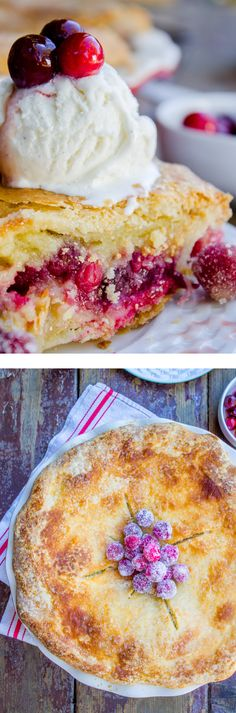 Cranberry Custard Pie..Creamy, sweet custard meets bright, tart cranberry, all wrapped up in a buttery, flaky pie crust! This gorgeous make-ahead pie is perfect for Thanksgiving or Christmas!