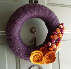DIY fall wreath..not exactly the colors I would pick tho..