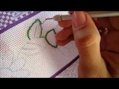 Russian punchneedle embroidery - part II -- first contour  This looks like fun!