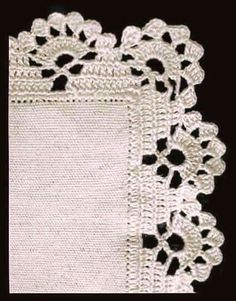 How to Crochet Wave Fan Edging Border Stitch Crochet Boarders, Crochet Edging Patterns, Crochet Lace Edging, Crochet Blocks, Filet Crochet, Crochet Doilies, Crochet Flowers, Crochet Stitches, Crochet Baby