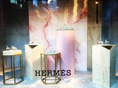 "HARRODS, London, UK, ""...we follow the initiates of Hermes by their scent"", for Hermes Fragrance, photo by Window Shoppings, pinned by Ton van der Veer"