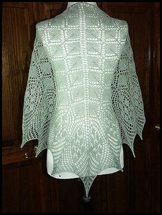 """Ethereal"" knit lace shawl in wool/silk lace weight yarn (pattern by Lakshmi Juneja)"