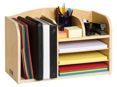 Amazon.com : Guidecraft G6301 Desk Organizer, High : Office Desk Accessories : Office Products - Use as charging station