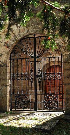 Church entry in Asturias, Spain • photo: Mi sabiduria on Flickr