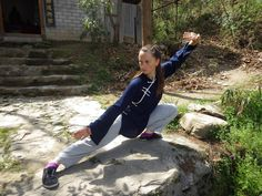 Oksana from Ukraine showing a low Kung Fu stance! She studies at the Wudang Traditional Martial Arts School. http://wudangmartialarts.com/