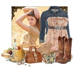 Very cute summer dress and boots