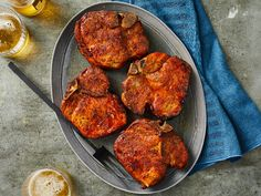 You don't have to be an expert smoker to make tender, expertly seasoned smoked pork chops. Our recipe works for beginners and pros. The seasoning mixture and overnight sitting will make the best … Smoked Meat Recipes, Pork Chop Recipes, Grilling Recipes, Meatloaf Recipes, Oven Recipes, Easy Recipes, Center Cut Pork Chops, Smoked Pork Chops, Pork Chops