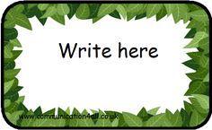 Leaves Labels - FREE Printable