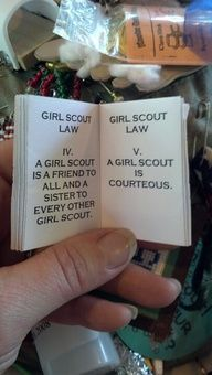 Girl Scout law bookl