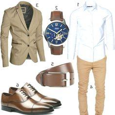 Business Outfit with Shirt Chino and Blazer (m0985) #amaci #shirt #chino #sakko #uh