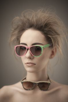 eyewear made from recycled snowboard and skies