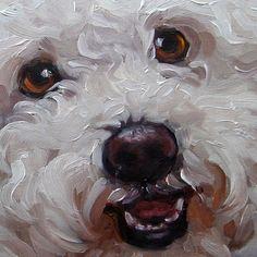 "Pet Lovers, custom Pet Portrait Oil Painting by puci, 8x8"". $147.00, via Etsy."