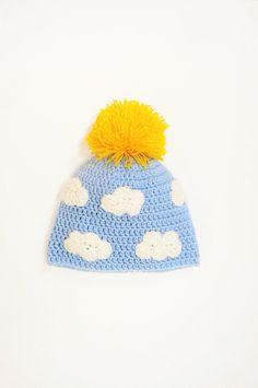 Kids Winter Hat Infants Hat Pom Pom Hat Crochet Kids Hat by 2mice