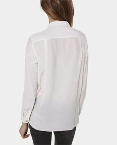 Plain silk boyfriend shirt - Shirts - Woman - The Kooples