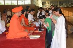 #Yoga guru baba Ramdev giving blessings to followers on guru purnima at Patanjali Yogpeeth,Haridwar