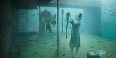 World's only underwater art gallery is 27 meters underwater on sunken ship