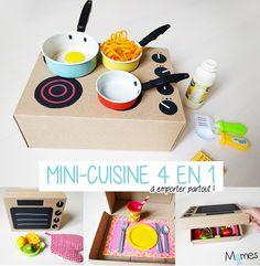 Fabriquer une mini cuisine à partir d'une boîte à chaussures !