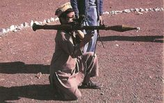 An Afghan rebel trains with an RPG-7. (Collection of David Isby), pin by Paolo Marzioli