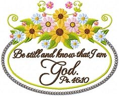 Be Still - 5x7 | Religious | Machine Embroidery Designs | SWAKembroidery.com