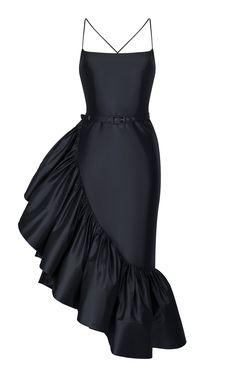Rasario Ruffled Silk Midi Dress Source by modaoperandi Look Fashion, Daily Fashion, Womens Fashion, Fashion Design, Silk Midi Dress, Dress Up, Elegant Dresses, Beautiful Dresses, Vetement Fashion