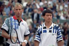 Thomas Muster et Michael Chang 1995