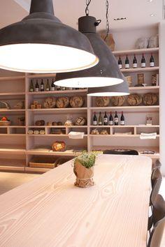 pendants and shelving  Cuisine de Bar by Poilane, London