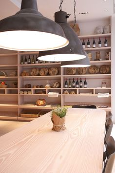 pendants and shelving  Cuisine de Bar by Poilane, London