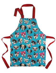 Cute Apron for Toddler - Waterproof PVC Pinny Printed in Unique Fun Dog Print for Little Cooks and Artists Age 2- 4 (small, blue) *** Quickly view this special  product, click the image : Kids Baking Supplies