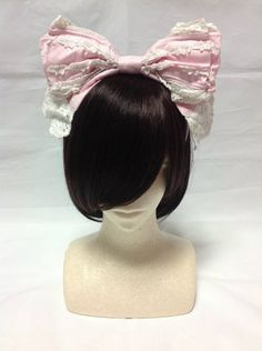 Sweet Lace Headbow in Pink from Baby the Stars Shine Bright - Lolita Desu