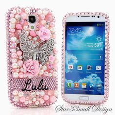 Style_PN_1038 / 100 Handcrafted Crystallized  Monogram Initials & Personalized Name Collection Luxury Bling Diamond Sparkle iPhone samsung galaxy note phone Case Cover by Star33mall on Etsy, $75.50