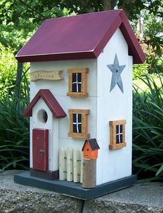 MD, bird house shabby chic