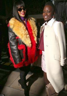 Photos – Lupita Nyong'o & Rihanna all Smiles at Miu Miu fashion show  See More Photos Here: