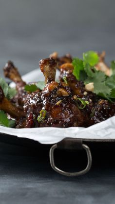 Kung Pao Chicken Lollipops is part of Fancy Summer desserts Cream Cheeses - With a little extra massaging, turn your crispy kung pao drumstick into a less messy lollipop Lollipop Recipe, Chicken Lollipops, Meat Appetizers, Tasty, Yummy Food, Ground Beef Recipes, Cooking Recipes, Cooking Gadgets, Cooking Icon