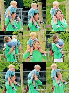 Prince George spent some time with his maternal grandmother Carole Middleton at Bucklebury Farm Park, Berkshire, week of June 2015