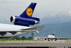McDonnell Douglas MD-11Fs from Lufthansa, sadly a dying breed