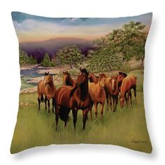 Salado Ii Throw Pillow featuring the painting Salado 3 by Sandy Dusek