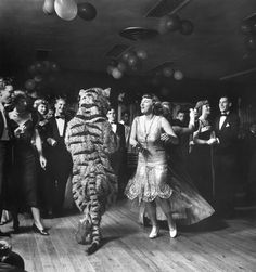 lady and a tiger dancing