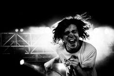 Permission to rock....    Matt Schultz of Cage the Elephant