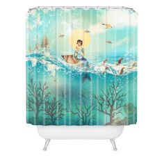 Belle13 The Queen Mermaid Shower Curtain | DENY Designs Home Accessories