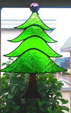 christmas tree stained glass - Google Search