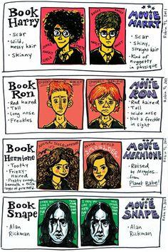 books vs. movies harry potter.