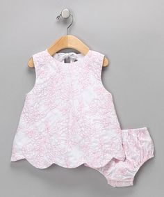 Take a look at this Pink Rose Dress & Diaper Cover - Infant  by Petit Confection on #zulily today!