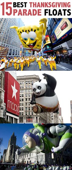 Check out the 15 Best Thanksgiving Parade Floats!