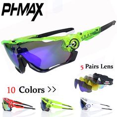 d2d16b62ce2  Visit to Buy  PHMAX Brand Polarized Cycling Sun Glasses Mountain Bike  Goggles 5 Lens Cycling Eyewear Bicycle SunGlasses Gafas de Ciclismo