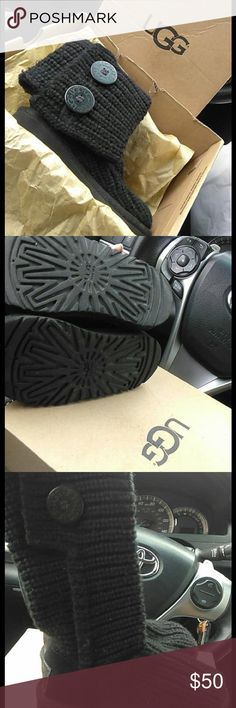 """timeless design 7a477 d9ecf Toddler Cardy Uggs Black """"Yarn"""" so they can be worn tall or short No"""
