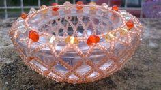 Korálkový svícinek pomerančový Decorative Bowls, Home Decor, Decoration Home, Room Decor, Home Interior Design, Home Decoration, Interior Design