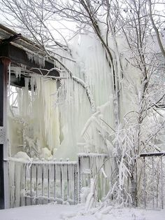 These are amazing icicles. #snow #ice #winter